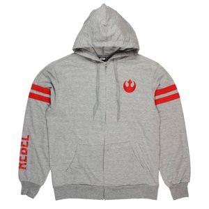 B2G1 Men's Star Wars Rebel Alliance Striped Hoodie